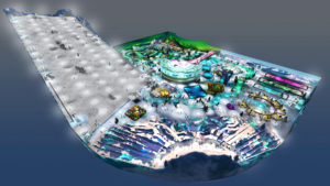 Indoor snow themepark