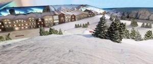 Indoor snow development