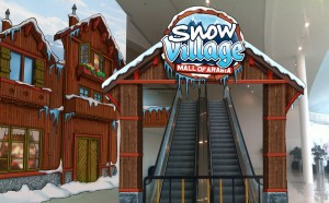 Indoor snow installation