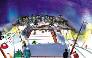 Indoor snow themepark
