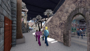 Indoor snow themepark - Snowplay Cold Zone entrance