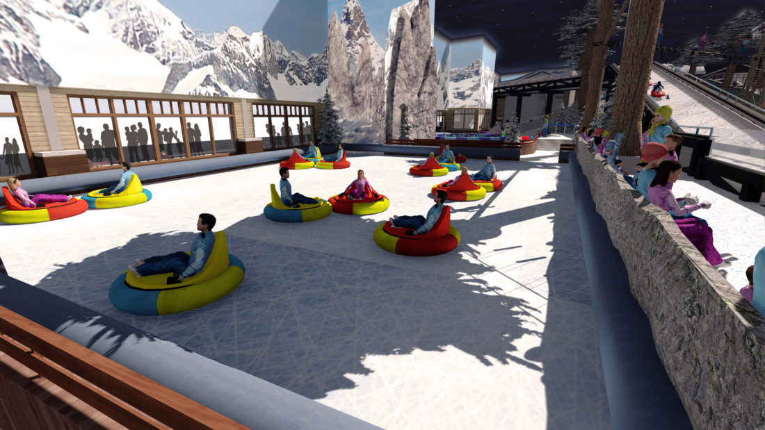 Indoor snow themepark - Snowplay Bumper Cars on Ice