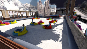 Indoor snow themepark - Snowplay Bumper Cars on Ice