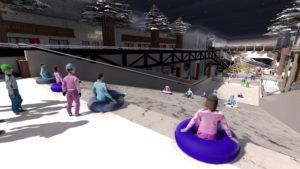 Indoor snow themepark - Snowplay Straight Slides