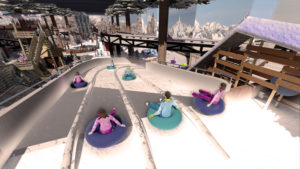 Indoor snow themepark - Snowplay Curved Slides