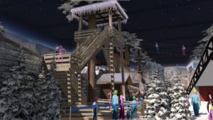 Indoor snow themepark - Snowplay Hight Ropes Course Tower