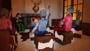 Indoor snow themepark - Snowplay Storytelling Corner